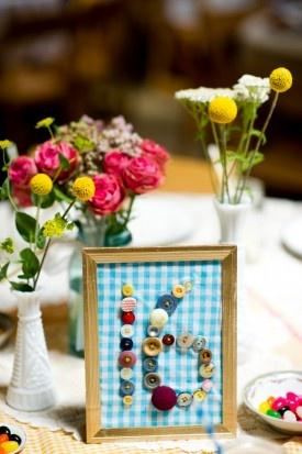 Cute Wedding Table Number Ideas, wedding table numbers, diy table numbers