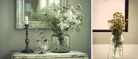 mason jar_large jar_wild flowers