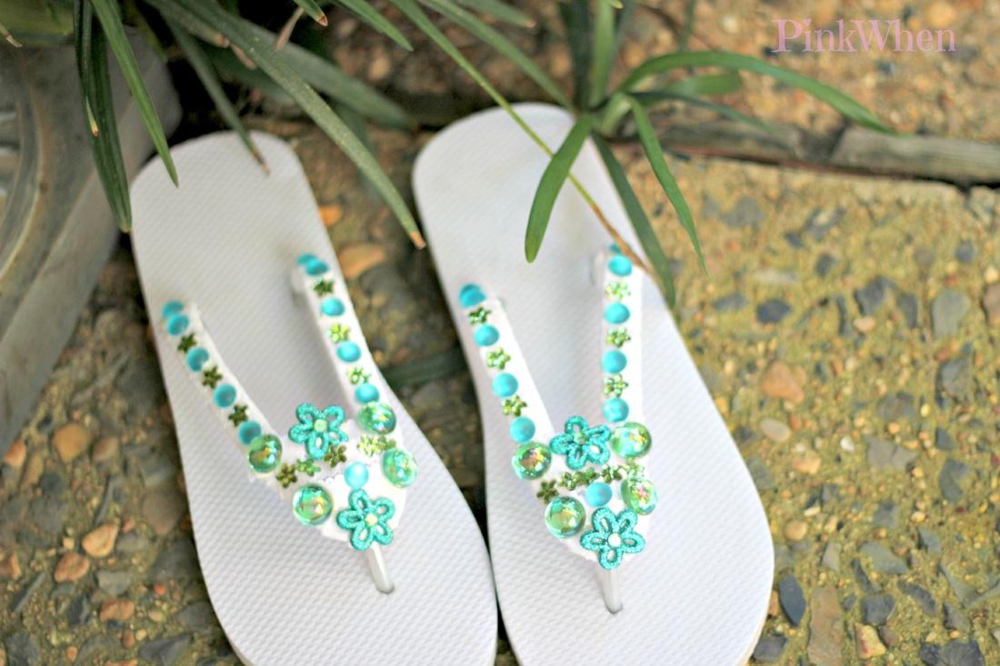 How To Make Flip Flops With Bling Paperblog