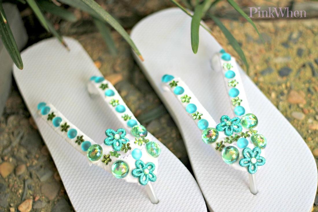 how to make braided ribbon flip flops
