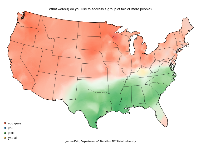 This is the deepest and most obvious linguistic divide in America. It's also an example of how everyone in south Florida pronounces things in the northern U.S. style.