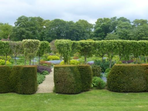 sculpted hedges are organic shapes are pleasing on the eye
