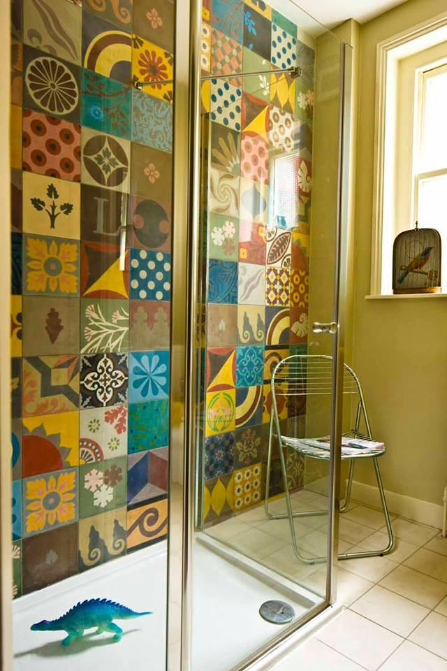 Tile Art in the Bathroom - Paperblog