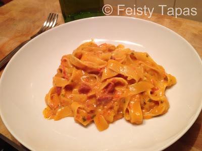 Creamy chorizo pasta (Thermomix recipe)