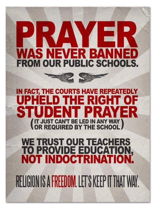 No One Has Banned Prayer In School