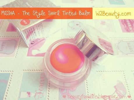 missha the style swirl tinted lip balm,missha lip product, missha, tinted balm, w2beauty,piedev,beautyfoodlife.blogspot.com,missha review,tinted balm review,beauty review
