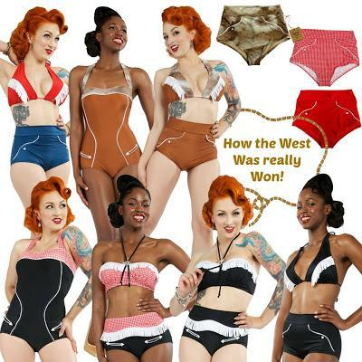 Vintage Inspired Western Swimwear ... How the West Was Really Won!