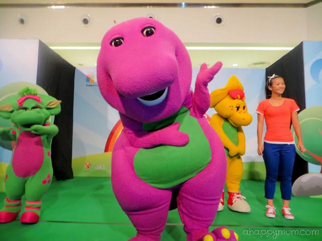 Meeting the purple dinosaur