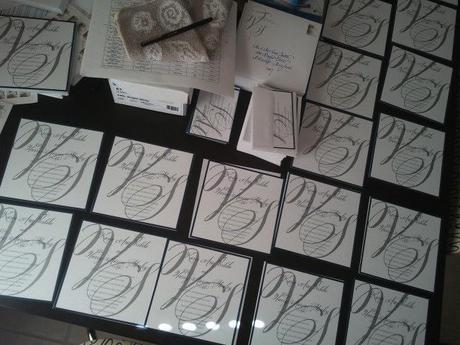 wedding invitation, invitation suite, Bev Verbeke, Bellucia font, calligraphy font, Belluccia with blockwedding invitation, invitation suite, Bev Verbeke, Bellucia font, calligraphy font, Belluccia with block text,Bellucia and block text, large script initials, Debi Sementelli, Lettering Art Studio,