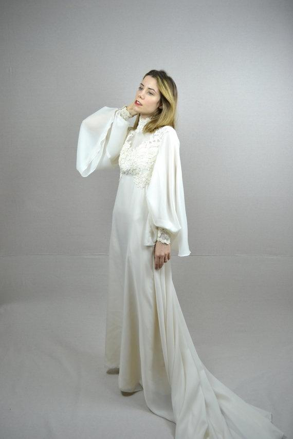 gallery for 70s style wedding dresses