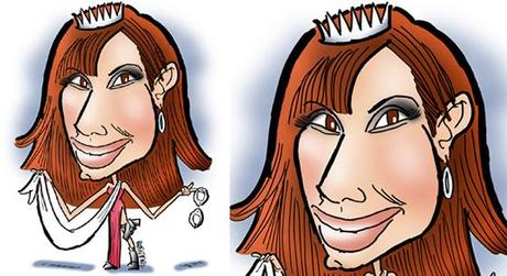 caricature of movie star Sandra Bullock famous for role as undercover cop in beauty pageant in movie comedy Miss Congeniality