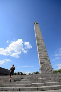 monument at the top of the cascades in Yerevan
