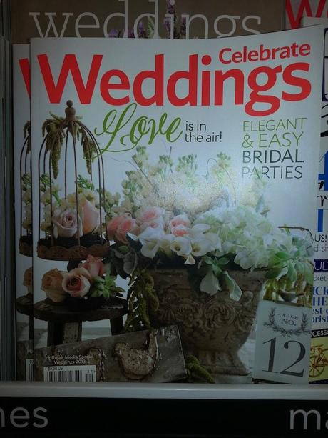 Post image for Belluccia Calligraphy Font featured in Celebrate Weddings Magazine Layout