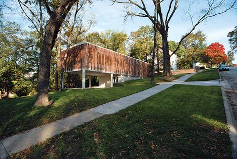 A Contemporary Kansas Home With A Wood Slatted Exterior