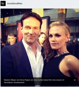 HBO's True Blood premiere red carpet event: Stephen Moyer and Anna Paquin