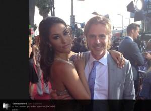 HBO's True Blood premiere red carpet event: Sam Trammell and Janina Gavankar