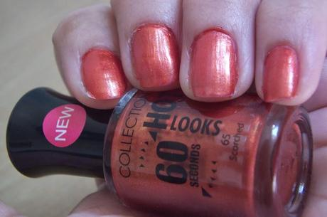 Collection Hot Looks 60 Seconds Nail Polish Scroched Swatches