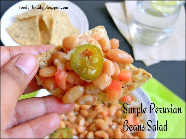 Simple Peruvian (Mayocoba) Beans Salad