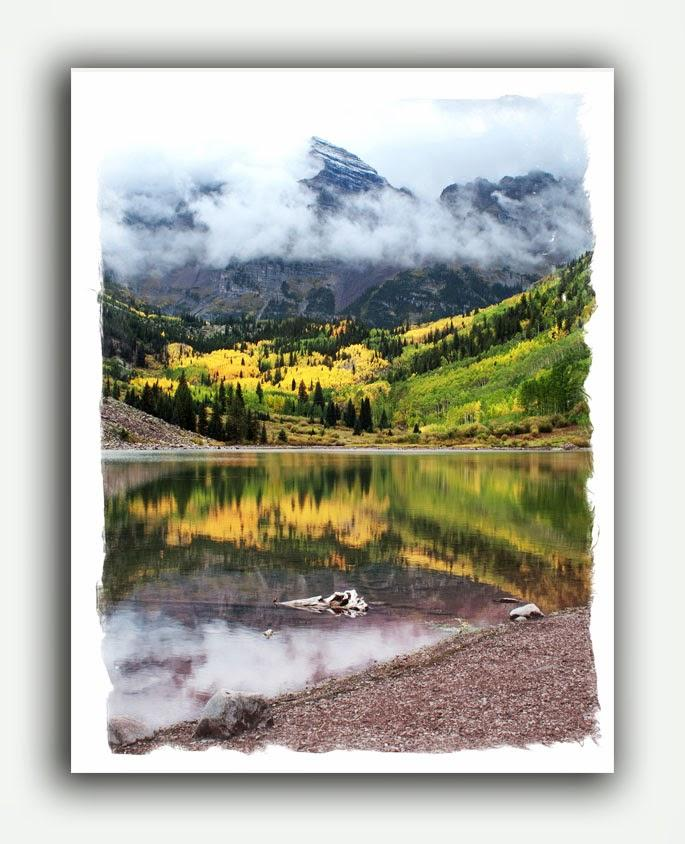 Mountain Photography Note Cards at Maroon Bells, Colorado