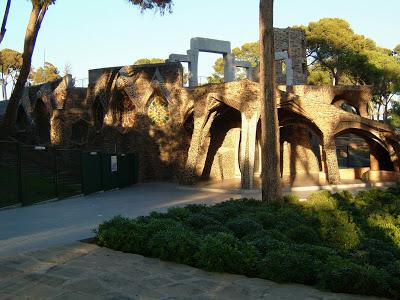 The crypt at Colonia Guell, Barcelona, by Antoni Gaudi