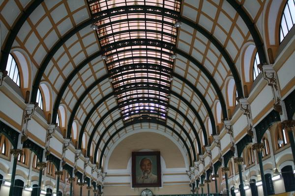 famous old post office saigon ho chi minh