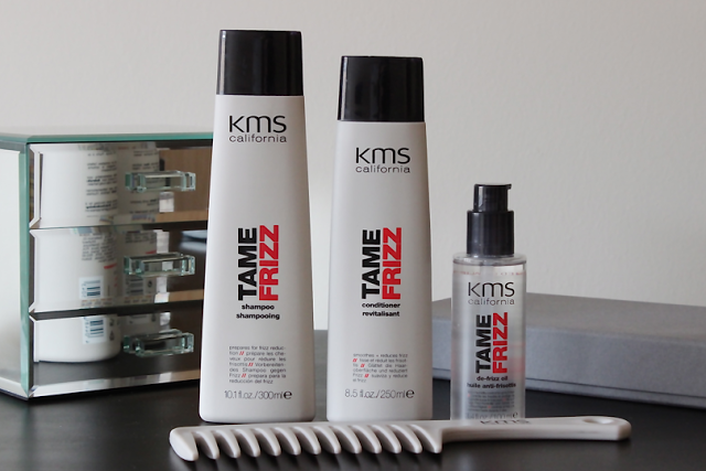 KMS california frizz fighter kit, haircare, blog review