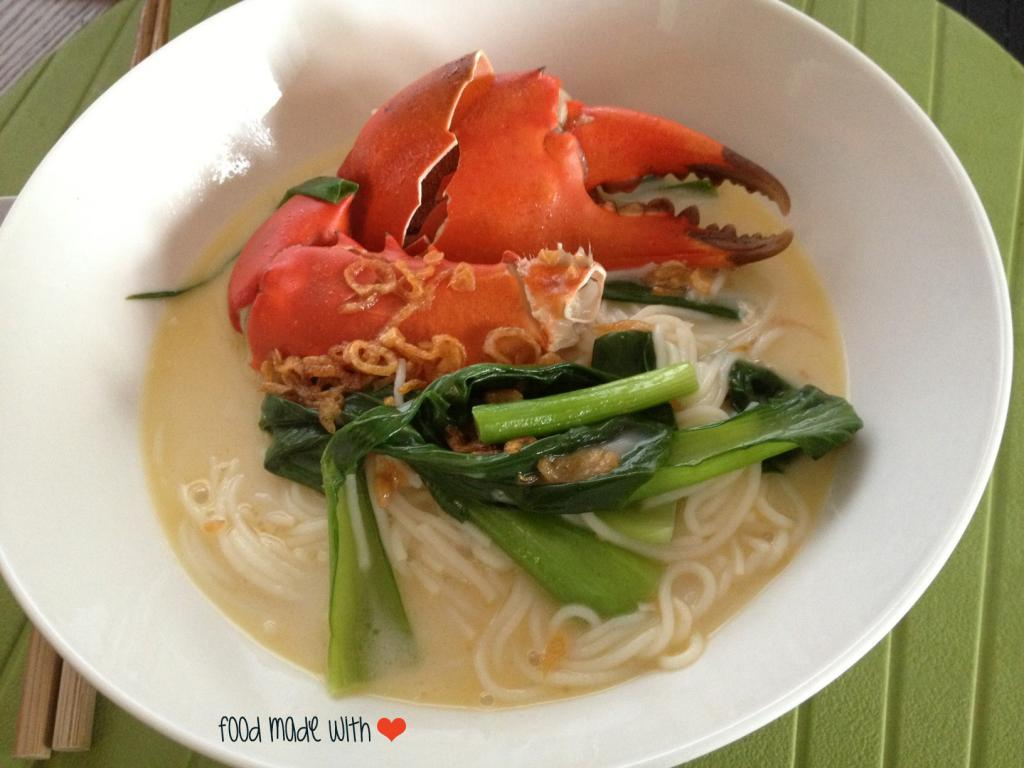 crab bee hoon soup