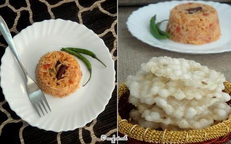 TOMATO RICE S/W SABUDANA PAPAD (Tomato Rice S/W Tapioca Pearls Papadums)