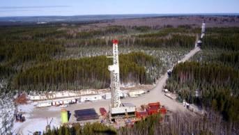 An Apache Canada drilling rig in the Ladyfern region of B.C. (Apache Canada)