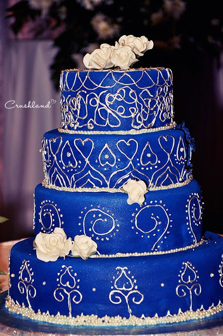 The Royal Blue Silver Wedding Cake Paperblog