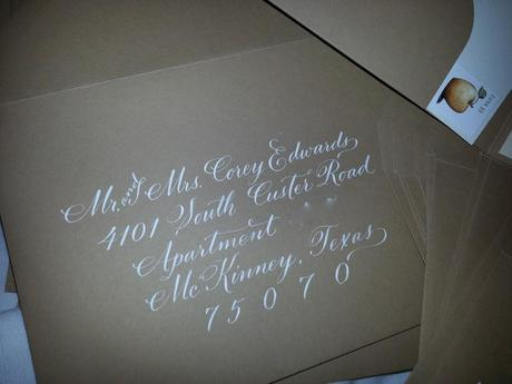 Kraft pouch, Dom Loves Mary, Marsupial papers, succulent. Invitation Suite, Dom Loves Mary Calligraphy Font, hand lettered wedding envelopes, calligraphy font, wedding font, fonts for invitations, fonts for weddings, most popular fonts, top selling fonts, fancy letters, white lettering on kraft envelopes, calligraphy on envelopes, Debi Sementelli, Lettering Art Studio, calligraphers Mary Calligraphy Font, hand lettered wedding envelopes, calligraphy font, wedding font, fonts for invitations, fonts for weddings, most popular fonts, top selling fonts, fancy letters, white lettering on kraft envelopes, calligraphy on envelopes, Debi Sementelli, Lettering Art Studio, calligraphers Mary Calligraphy Font, hand lettered wedding envelopes