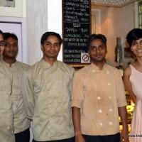 Nira Singh with her staff