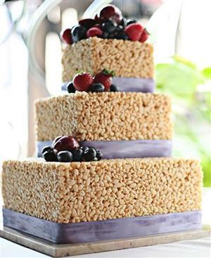 Rice Krispie Square Wedding Cake