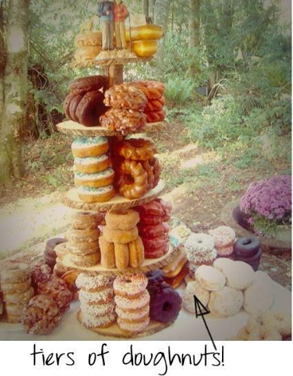 Donut Tier Wedding Cake