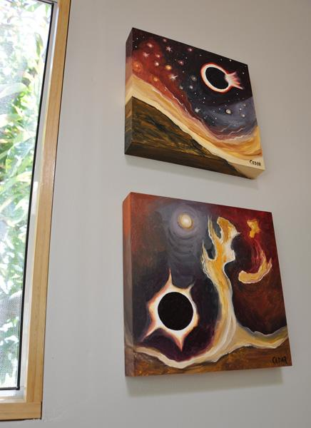 Paintings by Cedar Lee: Diamond Ring Eclipse & Eclipse of a Binary Star