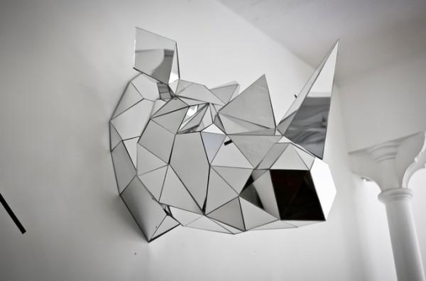 Mirrored Geometric Wolf Sculpture by Arran Gregory - Paperblog