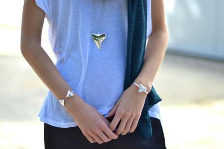 sharktooth jewelry bangle necklace