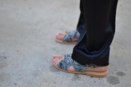 zara zebra flatt marni-esque sandals