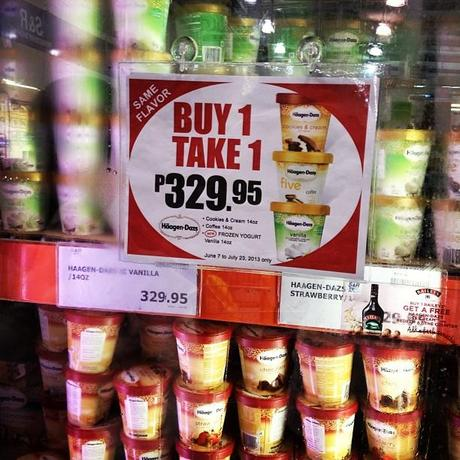 Haagen Dazs  đŸ�ŚđŸ�ŚBuy 1 Take at S&R! The catch: expiration is on the 18th. Doesn't matter though, for sure they won't ever reach your freezers! đŸ˜‹