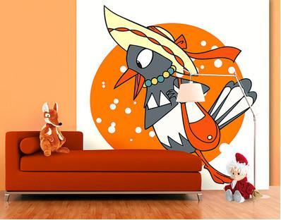 Fleece Mural Little Sandman - Misses Magpie Is Excited