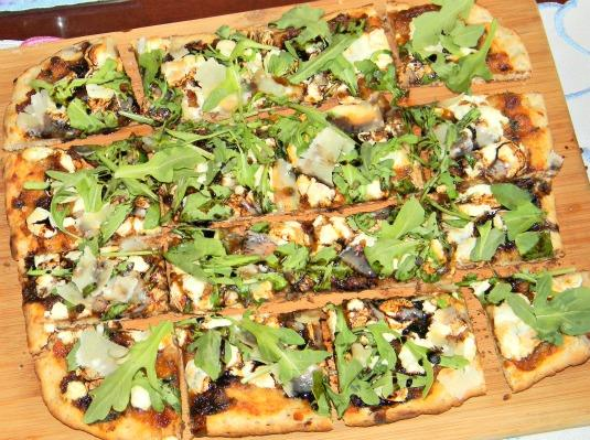 BLT Jam Flat Bread Pizza - Honey Board Recipe Redux Sponsored Recipe Contest