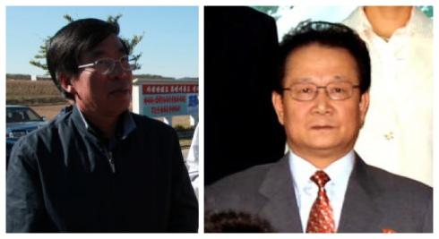 Chinese Ambassador to the DPRK Liu Hongcai (L) and KWP International Affairs Secretary Kim Yong Il (R) spoke at an anniversary event commemorating Kim Jong Il's 1983 visit to China, held at the Koryo Hotel in Pyongyang on 4 June 2013 (Photos: PRC Embassy in the DPRK, NKLW file photo).