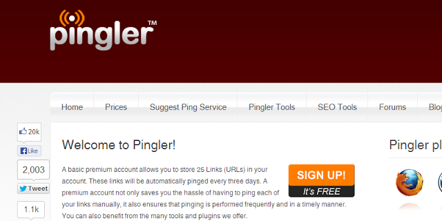 add your blog post to pingler