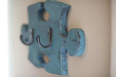 Side Project Time! {Our Autism Puzzle Piece Key Hook Wall Hanger}