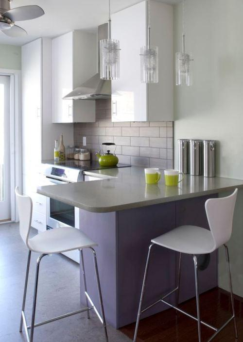 Small Kitchen With Breakfast Bar - Interior Design
