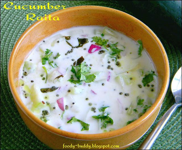 Cucumber Raita / Cucumber Yogurt Salad - Paperblog