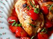 Chicken with Parmesan, Basil Melting Berries