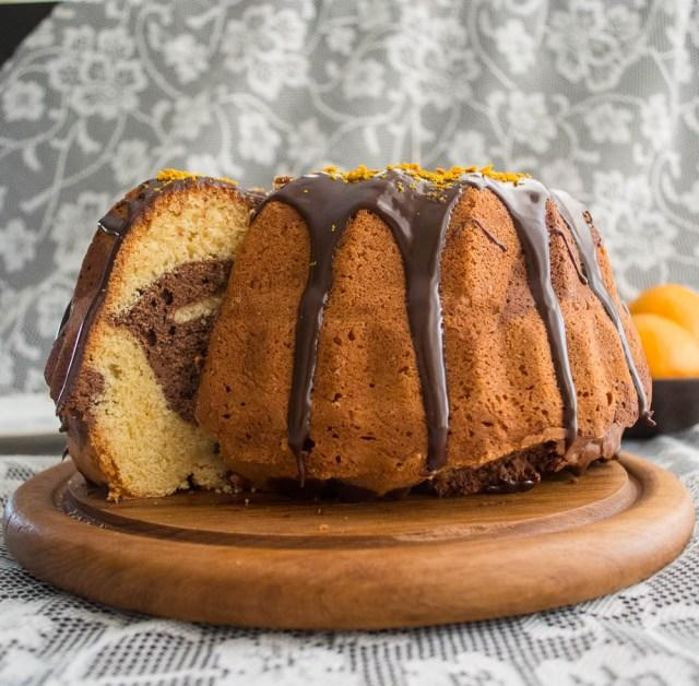 Chocolate Orange Swirl Bundt Cake #bundtamonth - Paperblog