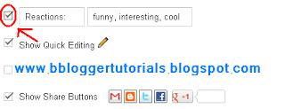 How To Add a Reaction Widget to Blogger