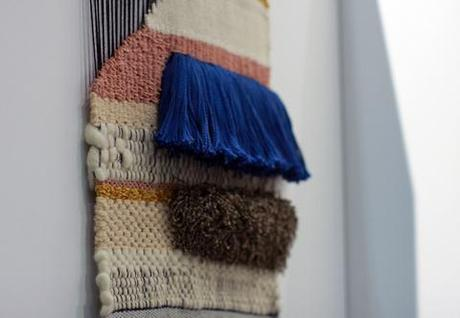 Textile weaving wall hanging by Mimi Jung of Brook&Lyn